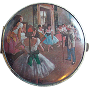 Ballerinas Ballet West Germany Vintage Mirror Compact