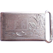 Art Deco Sterling Gentleman's Vintage Estate Belt Buckle