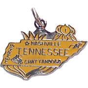 Awesome TENNESSEE Sterling & Enamel Vintage Estate Charm