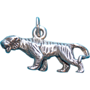 Sterling TIGER Vintage Estate Charm