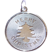 Sterling MERRY CHRISTMAS Signed Vintage Estate Charm