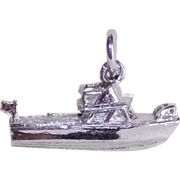 Awesome SPEED BOAT Sterling Vintage Estate Charm