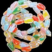 Gorgeous GIVRE GLASS Color Beads Vintage Estate Necklace