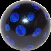 "Antique PAPERWEIGHT GLASS Victorian Estate 1/2"" Button"