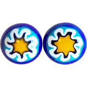 Awesome MILLEFIORI GLASS Vintage Estate Buttons