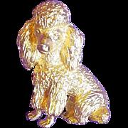 Awesome TRIFARI Signed Poodle Dog Vintage Estate Pin Brooch