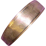 Awesome Vintage UNCAS Signed Sterling Silver Band Ring