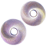Hypnotic KREMENTZ Signed Vintage Estate Earrings