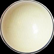 Gorgeous CELLULOID Black & Ivory Color Domed Vintage Estate Button