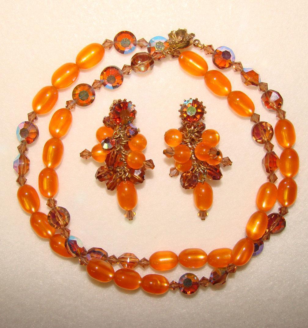 fabulous orange moonglow topaz necklace