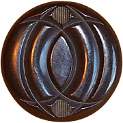 Gorgeous CARVED BAKELITE Vintage Large Button
