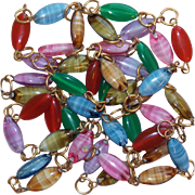 Gorgeous GIVRE GLASS Vintage Colored Glass Bead Necklace