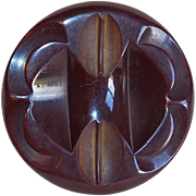 Gorgeous Large Carved Bakelite Vintage Estate Button