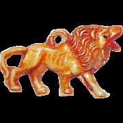 Vintage Celluloid Lion Estate Charm