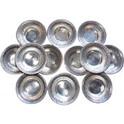 Gorgeous Antique WEBSTER STERLING Set of 12 Nut Dishes