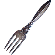 Adorable WEBSTER STERLING Rabbit with Long Ears Vintage Fork