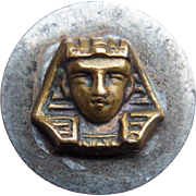 Tiny EGYPTIAN REVIVAL Deco Pharaoh King Tut Button