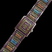 Fabulous HEIDI DAUS Signed Rhinestone WATCH Bracelet