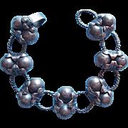 Gorgeous MEXICAN STERLING Sphere Link Vintage Bracelet