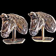 Sterling Mid Century Horse Head Vintage Cufflinks