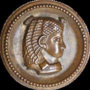 Art Deco Egyptian Revival Vintage Button - Medium Size
