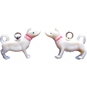Vintage Celluloid Chihuahua Dog Charms