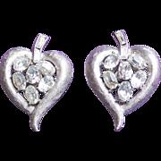 Gorgeous TRIFARI Signed Rhinestone Vintage Earrings