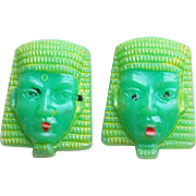 Vintage Early Plastic Egyptian Revival Buttons