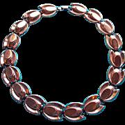 Gorgeous RENOIR Signed Copper Tulip Vintage Necklace