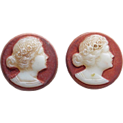 Awesome Glass Cameo Vintage Buttons
