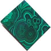 Gorgeous MALACHITE Vintage Trinket Box