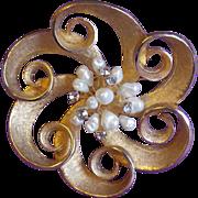Gorgeous KRAMER Signed Vintage Pin Brooch