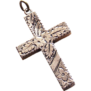 Gorgeous Victorian Cross Antique Pendant
