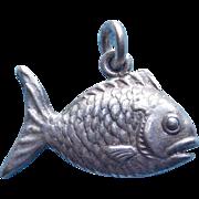 Vintage Sterling Fish Charm
