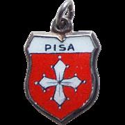 Vintage 835 Silver & Enamel Pisa Charm