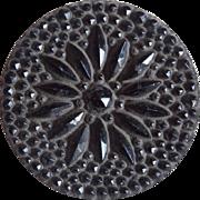 Large Victorian Black Glass Button