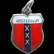 Vintage 800 Silver & Enamel Amsterdam Charm