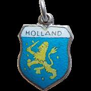 Vintage 800 Silver & Enamel Holland Charm