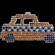 Awesome TAXI CAB Car Vintage Rhinestone Brooch