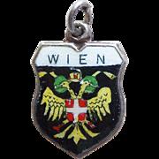 Vintage 800 Silver & Enamel Wien Vienna Charm