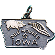 Sterling Iowa Vintage Estate Charm