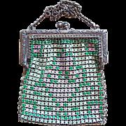 Miniature Art Deco Enamel Mesh Purse