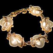 Fabulous JUDY LEE Signed Vintage Baroque Faux Pearl Bracelet
