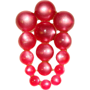 Gorgeous RASPBERRY MOONGLOW Lucite Vintage Brooch