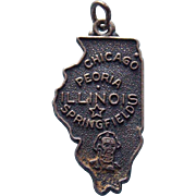 Sterling Illinois Vintage Signed JMF Charm
