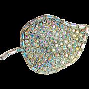 Gorgeous H Pomerantz Aurora Rhinestone Vintage Brooch