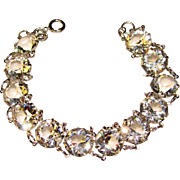 Fabulous ART DECO Crystal Stones Estate Bracelet