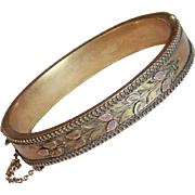Fabulous VICTORIAN Antique Hinged Bangle Bracelet