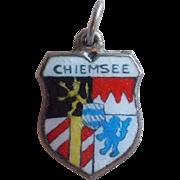 Vintage 800 Silver & Enamel Chiemsee Charm