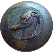 Antique Dog Face Estate Button